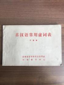 古汉语常用虚词表