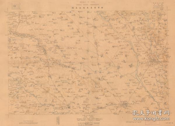 民国1928年《顺直水利委员会实测-武清县地图》(原图高清复制),(民国天津武清廊坊北京大兴老地图),图名虽然叫《武清县》,但全图只包含一部分武清县,在全图右下部,武清县城在全图右下方,图右下方为廊坊一部分,图左上方为大兴一部分,请看采育镇,全图范围四至,请看图片。全图开幅巨大,年代准确,绘制详细,准确性高,村庄、河流、道路、山体登高线均详细测绘标注。博物馆级地图史料,地理地名历史变迁重要史料地图