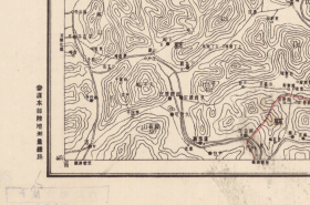 【复印件】民国二十四年(1935年)《三屯营》(原图高清复制),(民国河北唐山迁西老地图)。全图范围四至,请看图片。当时三屯营属于迁安县,图中红线是县界,图左侧为遵化县,图右侧为迁安县,现在属于迁西县,请看当时遵化县的飞地。民国军用图,参谋本部陆地测量总局测绘,全图年代准确,十万分之一比例尺,村庄、道路、山体等高线、河流等绘制详细。此图种非常稀少。迁西地理地名历史变迁重要史料。裱框后风貌佳。
