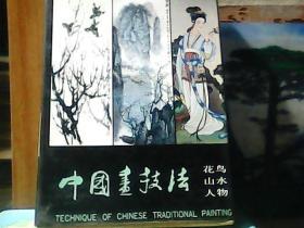中国画技法 花鸟、山水、人物 (全3册 )带函套