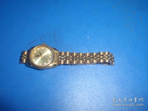 武汉牌女式镀金机械手表(国产手表202)