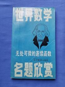 世界数学名题欣赏丛书 无处可微的连续函数