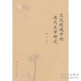 文化视域中的清代文学研究(小16开)2折