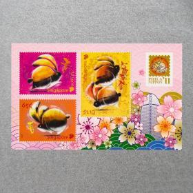 【新加坡2011年DJYZ东京邮展生肖兔年小全张】