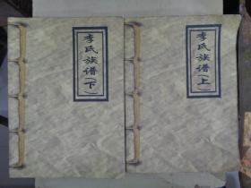 李氏族谱(上下册)