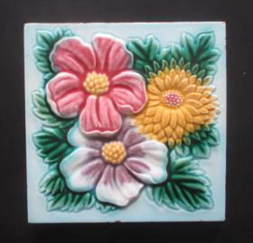 民国瓷砖--小花