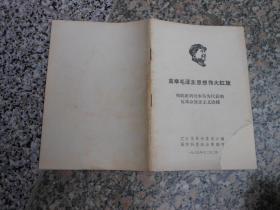 文革书籍;高举毛泽东思想伟大红旗彻底批判刘少奇为代表的反革命修正主义路线