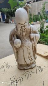 """瓷器类;单色白瓷人物造型""""老寿星""""高27厘米"""