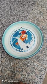 搪瓷;七八十年代的搪瓷盘一个{沈阳市搪瓷厂}建设牌商标