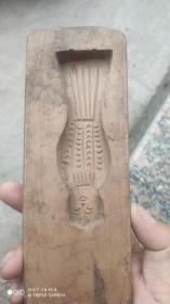木制印模;月饼模子一个吉祥图案人物