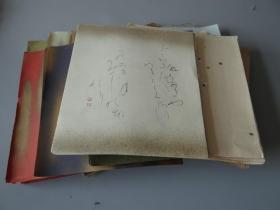 展示贴--南丰教授同批老纸--软卡色笺系列:日本色笺软卡纸一批!约70-80年代日本老纸!南丰教授书法小品三枚!