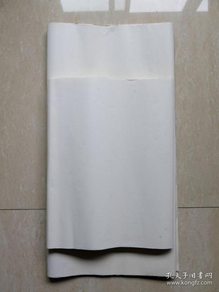 七十年代荣宝斋三层玉版宣4尺13张 五尺尺半切6张 轧光