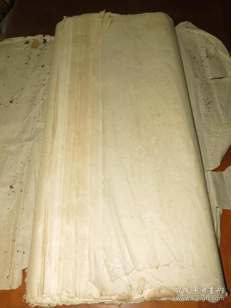 清末长纤维楮皮 棉纸67张