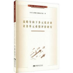 战略导向下多元化企业业务单元业绩评价研究 经济理论、法规 宫义飞 等