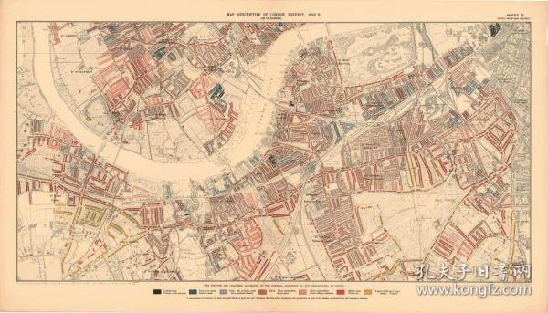 【复印件】伦敦老地图 Map of London(1898-1899年制图)英国老地图 原图高清复印