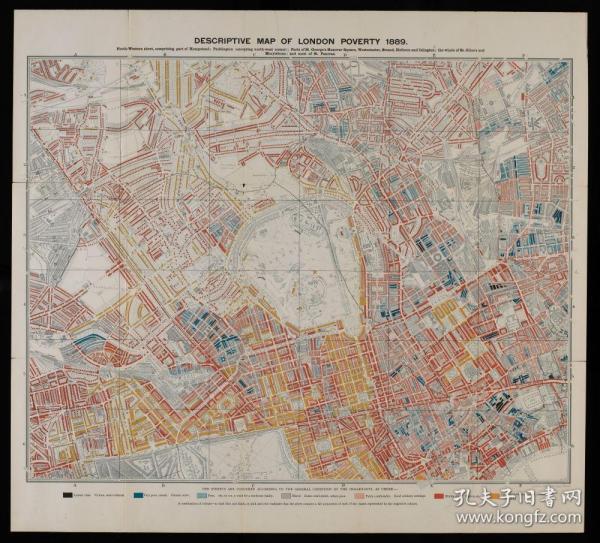 【复印件】伦敦老地图 Map of London(1889年制图)英国老地图 原图高清复印