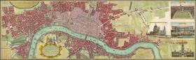 【复印件】伦敦老地图 Map of London(1736年制图)英国老地图 原图高清复印