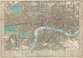 【复印件】伦敦老地图 Map of London(1848年制图)英国老地图 原图高清复印