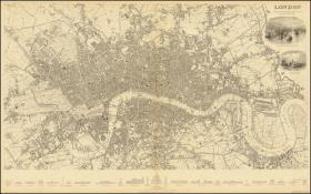 【复印件】伦敦老地图 Map of London(1836年制图)英国老地图 原图高清复印