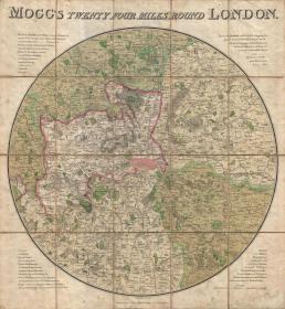 【复印件】伦敦老地图 Map of London(1820年制图)英国老地图 原图高清复印