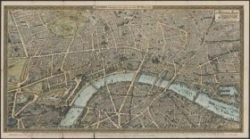 【复印件】伦敦老地图 Map of London(1890s年制图)英国老地图 原图高清复印