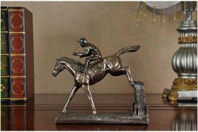 【摆件】欧式家居摆件 绅士赛马  创意礼品 树脂工艺品