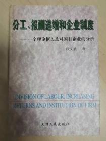 分工、报酬递增和企业制度:一个理论框架及对国有企业的分析