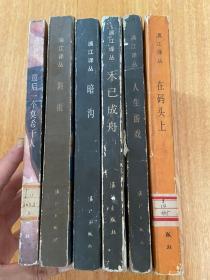 漓江译丛:暗沟、斜雨、最后一个莫希干人、在码头上、人生游戏、木已成舟,六册合售