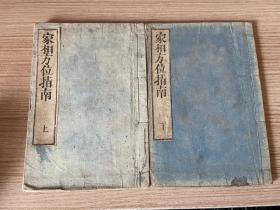 明治23年(1890年)和刻本《家相方位指南》线装两册全,日本著阳宅风水书,风水插图较多有风水活盘两个