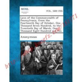 【全新正版】Laws of the Commonwealth of Pennsylvania, fr...