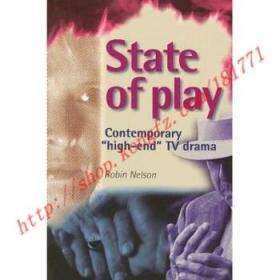 【全新正版】State of Play: Contemporary 'high-End' TV Drama
