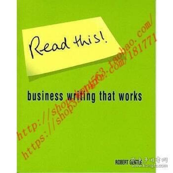 【全新正版】Read This!: Business writing that works