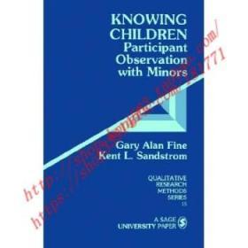 【全新正版】Knowing Children: Participant Observation wi...