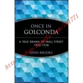 【全新正版】Once In Golconda: A True Drama Of Wall Stree...