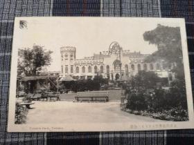 天津老明信片,民国英租界,维多利亚公园,戈登堂