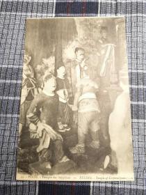 北京老明信片,清末肉刑寺庙,肉体刑罚北京,体罚
