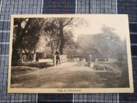 天津老明信片,民国东局子,法国兵营,裕丰版