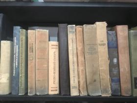 泛黄外文书复古老版外文书民国书样板间用书