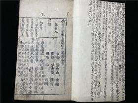 和刻本《鼎鐫注釋解意懸鏡千家詩》1冊2卷全,上下兩節版,寬文四年出版。