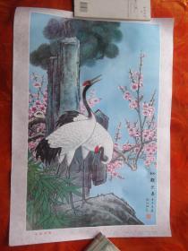 仙鹤迎春年画