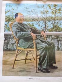 挂历散页:毛主席在武汉