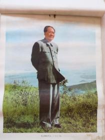 挂历散页:毛主席在庐山