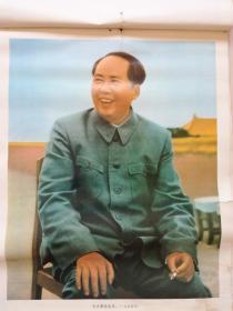 挂历散页:毛主席在北京