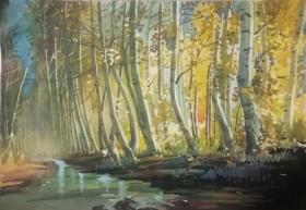 山西著名女画家杜晓云水粉作品一幅(027保真)