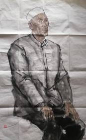 中央美术学院毕建勋写生人物画一幅(03)