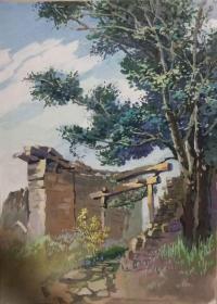 山西著名女画家杜晓云水粉作品一幅(010保真)