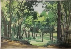 山西著名女画家杜晓云水粉作品一幅(005保真)