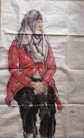 中央美术学院毕建勋写生人物画一幅(02)