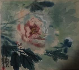 山西著名女画家杜晓云水粉作品一幅(019保真)