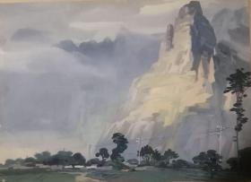 山西著名女画家杜晓云水粉作品一幅(029保真)